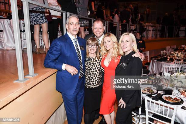 Jim Buffman and Katheryn Winnick attend the 2017 AE Networks Upfront At Jazz At Lincoln Center's Frederick P Rose Hall on March 21 2017 in New York...