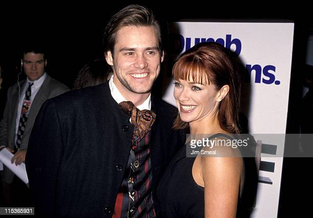 Jim Carrey and Lauren Holly during 'Dumb and Dumber' Hollywood Premiere at Cinerama Dome Theater in Hollywood California United States