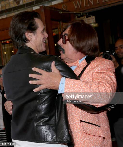 Jim Carrey and Tony Clifton attend the 'Jim Andy The Great Beyond' premiere during the 2017 Toronto International Film Festival at Winter Garden...