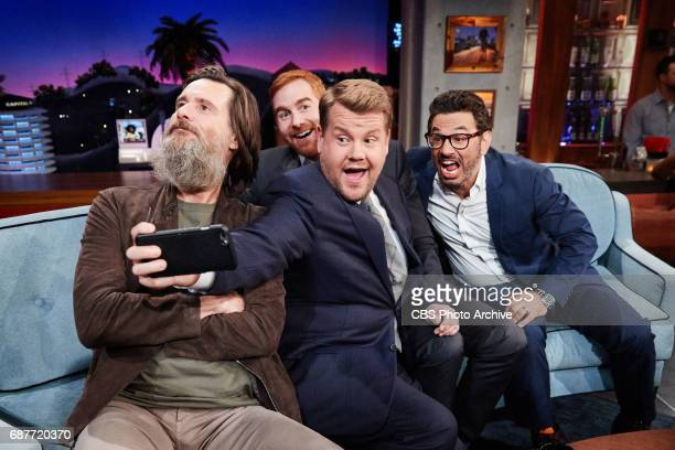 Jim Carrey Andrew Santino and Al Madrigal chat with James Corden during 'The Late Late Show with James Corden' Tuesday May 23 2017 On The CBS...