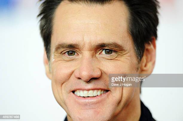 Jim Carrey attends a photocall for 'Dumb and Dumber To' on November 20 2014 in London England