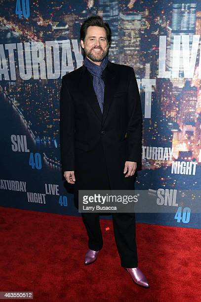 Jim Carrey attends SNL 40th Anniversary Celebration at Rockefeller Plaza on February 15 2015 in New York City