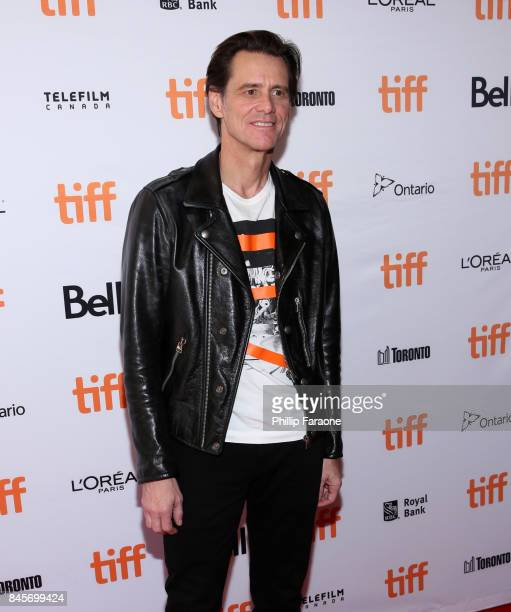 Jim Carrey attends the 'Jim Andy The Great Beyond' premiere during the 2017 Toronto International Film Festival at Winter Garden Theatre on September...