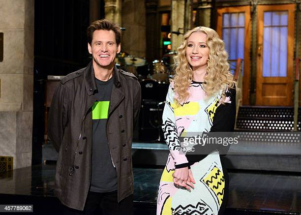 LIVE 'Jim Carrey' Episode 1666 Pictured Jim Carrey and Iggy Azalea on October 23 2014