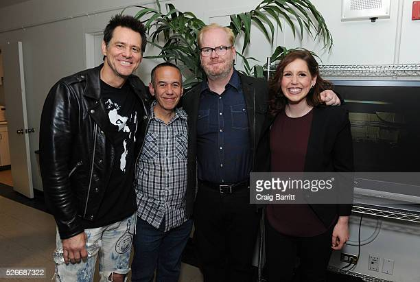 Jim Carrey Gilbert Gottfried Jim Gaffigan and Vanessa Bayer attend An Amazing Night Of Comedy A David Lynch Foundation Benefit For Veterans With PTSD...