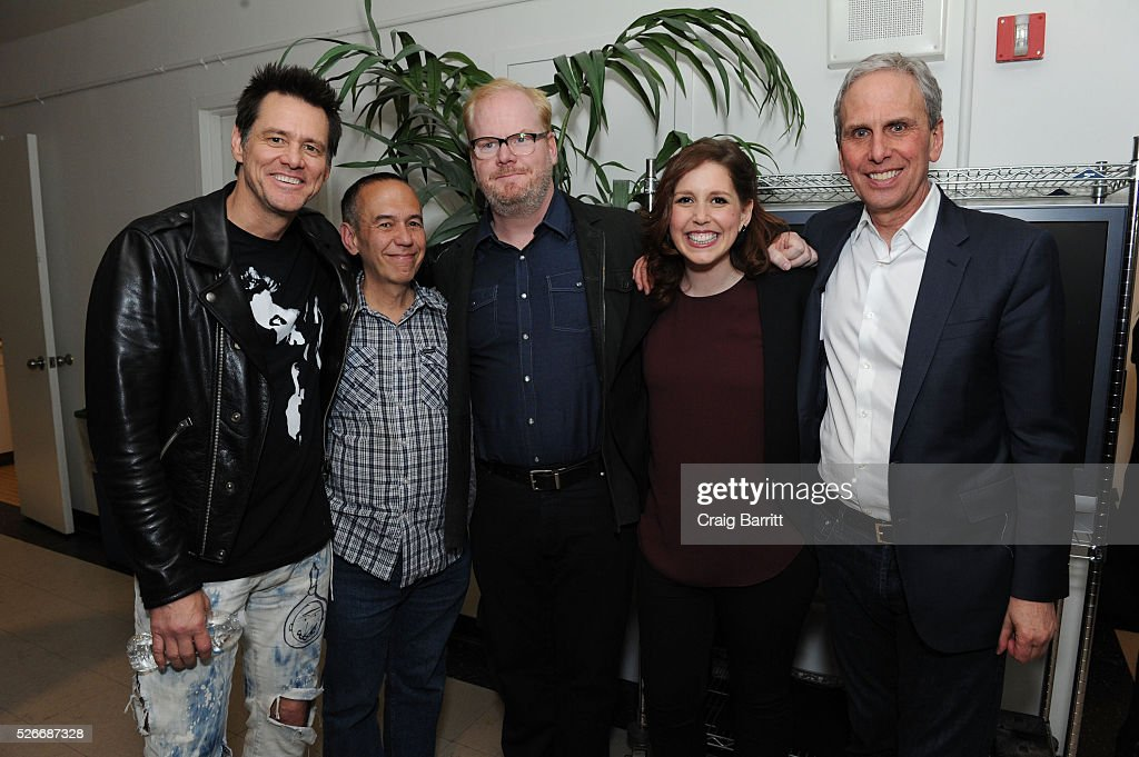 Jim Carrey, Gilbert Gottfried, Jim Gaffigan, Vanessa Bayer and Bob Roth attend An Amazing Night Of Comedy: A David Lynch Foundation Benefit For Veterans With PTSD on April 30, 2016 in New York City.