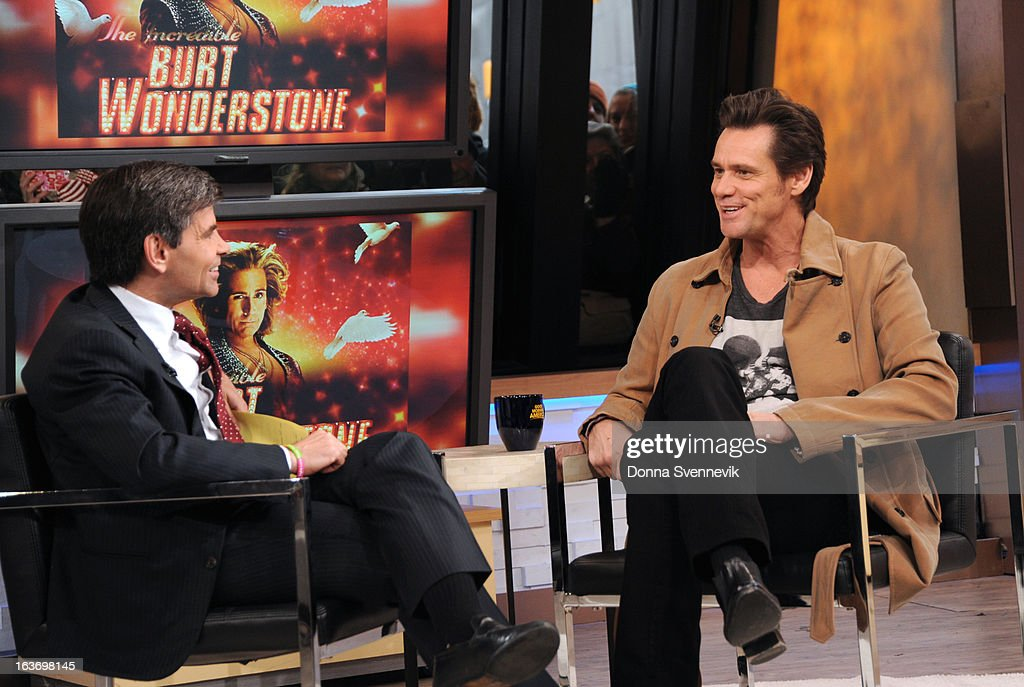 AMERICA - Jim Carrey is a guest on 'Good Morning America,' 3/14/13, airing on the ABC Television Network. (Photo by Donna Svennevik/ABC via Getty Images) GEORGE