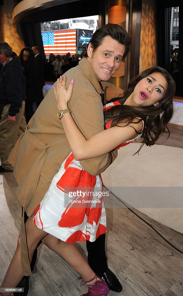 AMERICA - Jim Carrey is a guest on 'Good Morning America,' 3/14/13, airing on the ABC Television Network. (Photo by Donna Svennevik/ABC via Getty Images) JIM CARREY, ZENDAYA