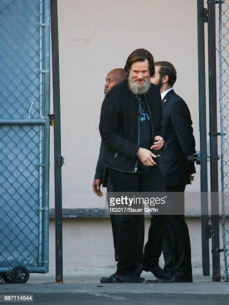Jim Carrey is seen at 'Jimmy Kimmel Live' on May 22 2017 in Los Angeles California