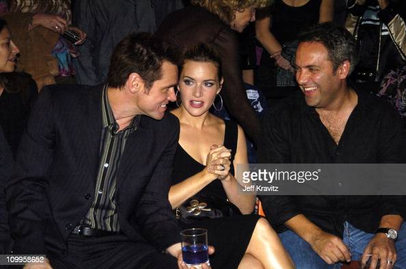 Jim Carrey Kate Winslet and Sam Mendes at the DVD Launch party for Eternal Sunshine of the Spotless Mind hosted by Universal Studios Home Video The...