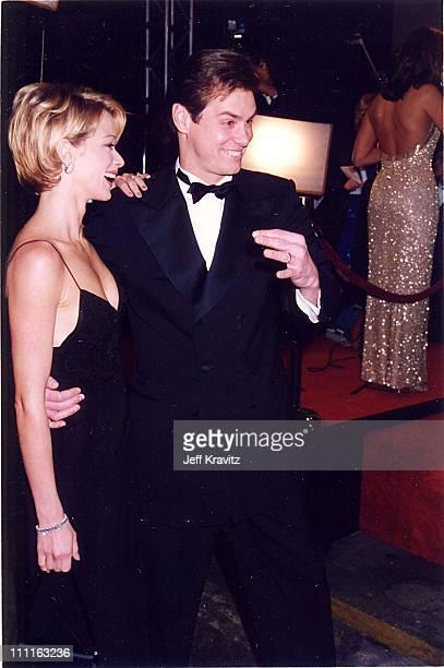 Jim Carrey Lauren Holly during 1996 Fire Ice Ball at Warner Bros Studios in Burbank California United States