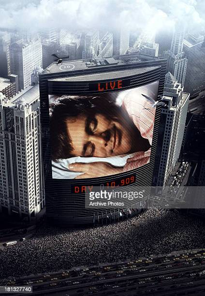 Jim Carrey sleeps in movie art for the film 'The Truman Show' 1998