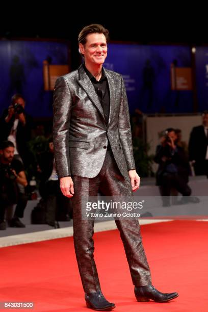 Jim Carrey walks the red carpet ahead of the 'Jim Andy The Great Beyond The Story of Jim Carrey Andy Kaufman Featuring a Very Special Contractually...