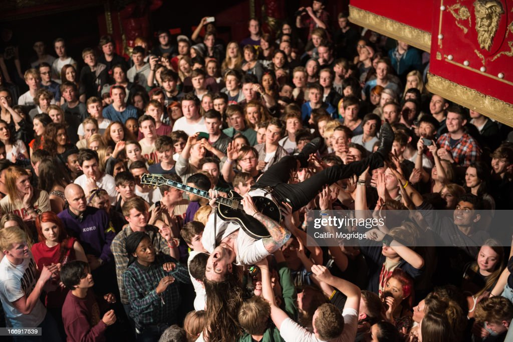 Jim Carroll of Pure Love performs at Koko in London on April 18 2013 in London England