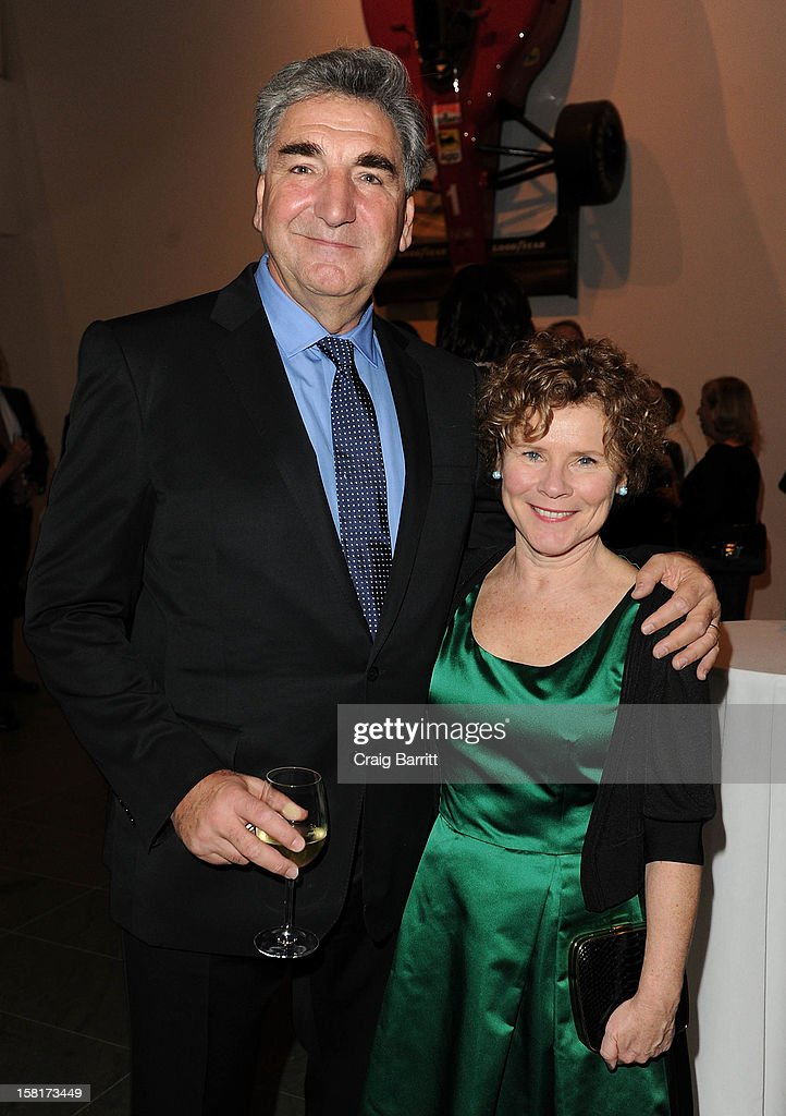 Jim Carter and <a gi-track='captionPersonalityLinkClicked' href=/galleries/search?phrase=Imelda+Staunton&family=editorial&specificpeople=202926 ng-click='$event.stopPropagation()'>Imelda Staunton</a> attend an evening with the cast and producers of PBS Masterpiece series 'Downton Abbey' hosted by Ralph Lauren & Graydon Carter on December 10, 2012 in New York City.