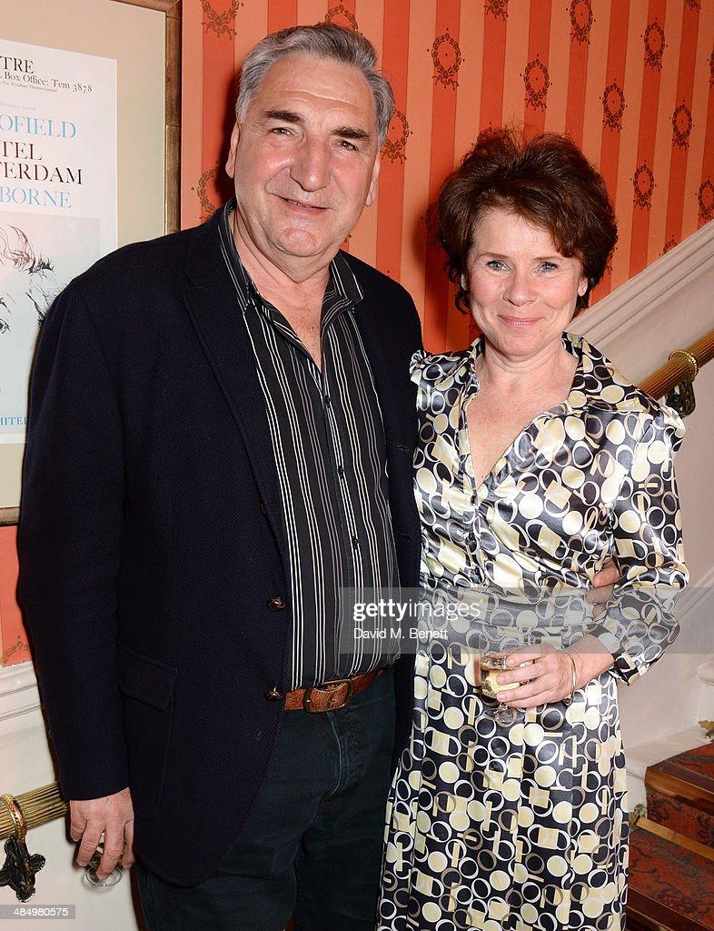 Jim Carter (L) and Imelda Staunton attend the press night performance ...