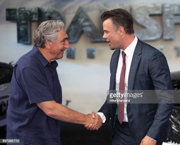 Jim Carter and Josh Duhamel attend the global premiere of 'Transformers The Last Knight' at Cineworld Leicester Square on June 18 2017 in London...