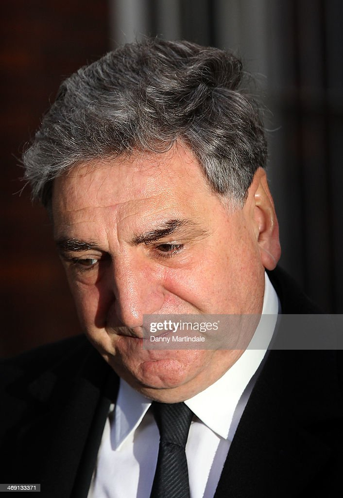 Jim Carter attends the funeral of actor Roger Lloyd-Pack at St Paul's Church on February 13, 2014 in London, England.