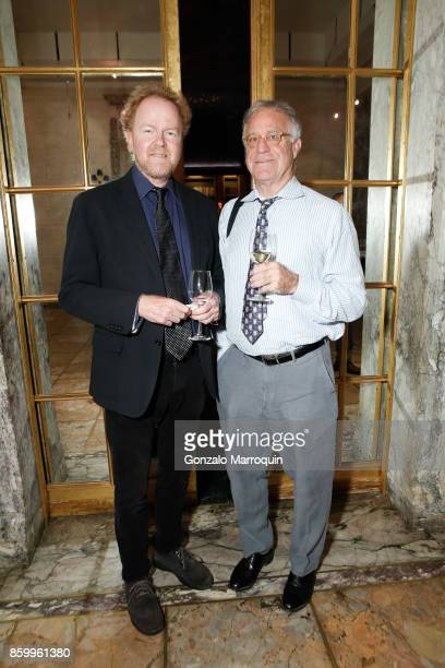 Jim Cass and Richard Squires attend as Jay McInerney and Laurie Anderson are presented with the insignia of Officer of the Ordre des Arts et des...