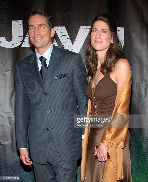 Jim Caviezel and Wife during 'Deja Vu' New York Premiere Arrivals at Ziegfeld Theatre in New York City New York United States