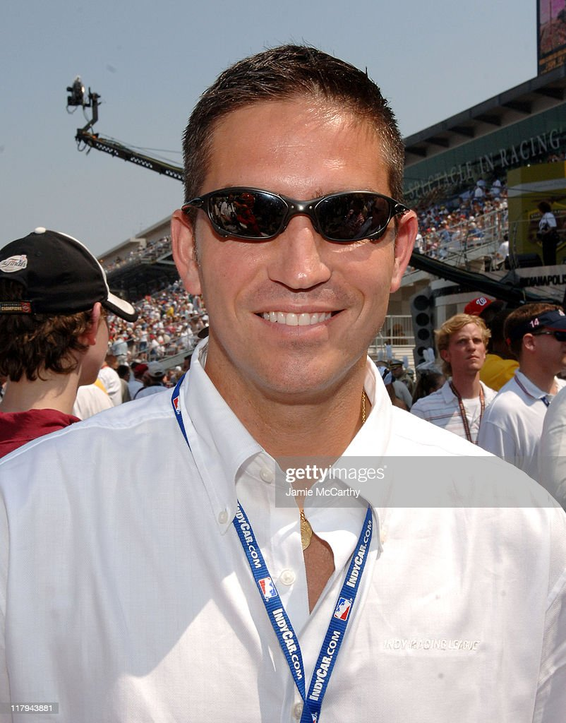 Jim Caviezel during Indianapolis 500 - 90th Running - Race Day at Indianapolis Motor Speedway in Indianapolis, Indiana, United States.
