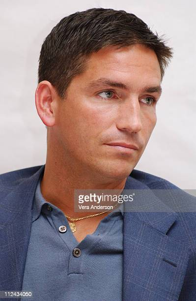 Jim Caviezel during 'The Passion of the Christ' Press Conference with Mel Gibson Jim Caviezel and Maia Morgenstern at Four Seasons Hotel in Beverly...
