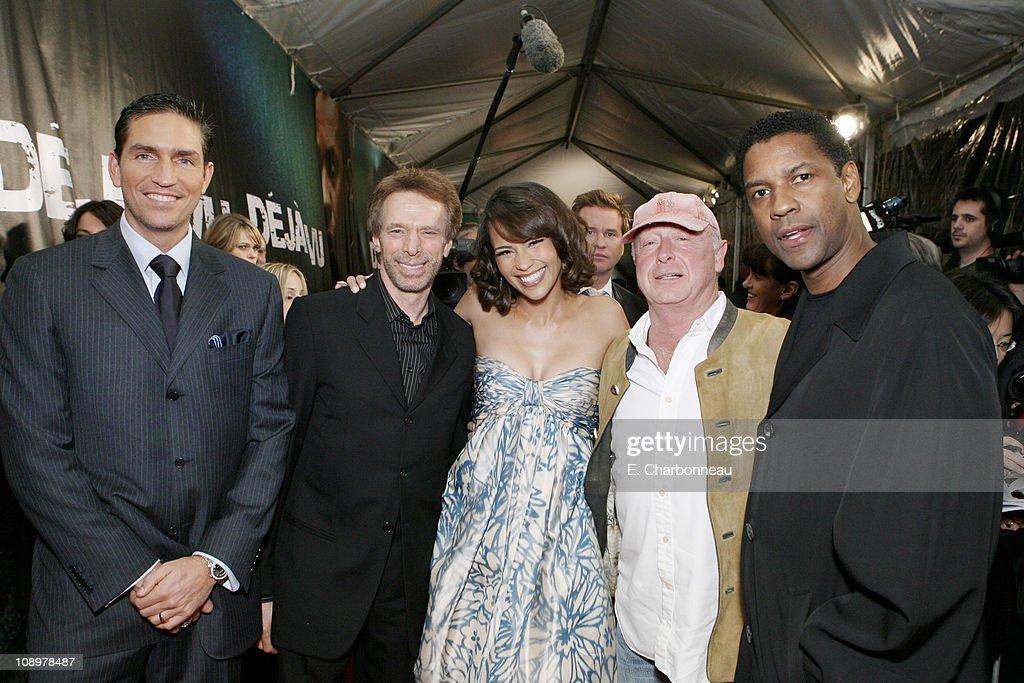 Jim Caviezel Producer Jerry Bruckheimer Paula Patton Director Tony Scott and Denzel Washington