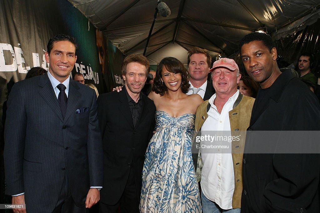 Jim Caviezel Producer Jerry Bruckheimer Paula Patton Val Kilmer Director Tony Scott and Denzel Washington