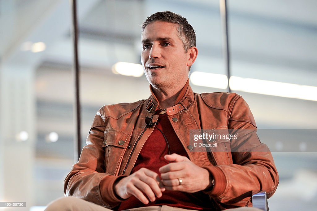 Jim Caviezel speaks on stage during Beyond Sport United - Workshops & Panels at Yankee Stadium on June 11, 2014 in the Bronx borough of New York City.