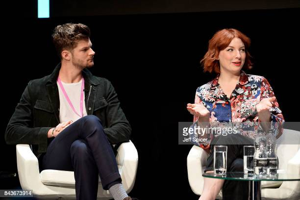 Jim Chapman and Alice Levine speak at the Technology with Heart Jaguar Land Rover's Tech Fest at Central St Martins on September 7 2017 in London...