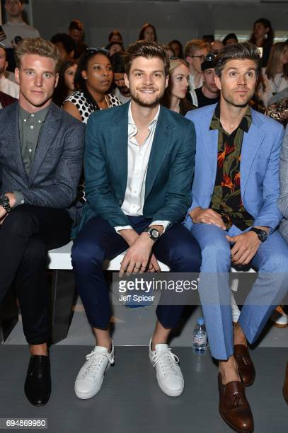 Jim Chapman and Darren Kennedy attend the Christopher Raeburn show during London Fashion Week Men's June 2017 collections on June 11 2017 in London...