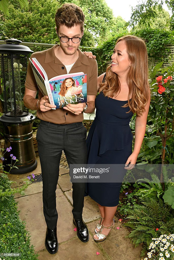 Jim Chapman (L) and <a gi-track='captionPersonalityLinkClicked' href=/galleries/search?phrase=Tanya+Burr&family=editorial&specificpeople=9983702 ng-click='$event.stopPropagation()'>Tanya Burr</a> attend an intimate dinner hosted by <a gi-track='captionPersonalityLinkClicked' href=/galleries/search?phrase=Tanya+Burr&family=editorial&specificpeople=9983702 ng-click='$event.stopPropagation()'>Tanya Burr</a> to launch her first cookbook 'Tanya Bakes' at Number Sixteen on June 30, 2016 in London, England.