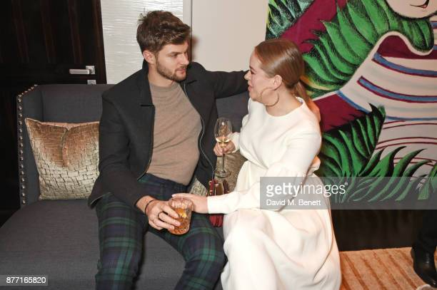 Jim Chapman and Tanya Burr attend Louis Vuittons Celebration of GingerNutz in Vogue's December Issue on November 21 2017 in London England