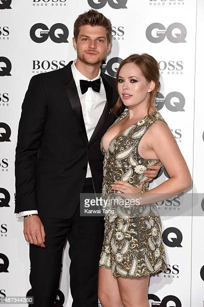 Jim Chapman and Tanya Burr attend the GQ Men Of The Year Awards at The Royal Opera House on September 8 2015 in London England