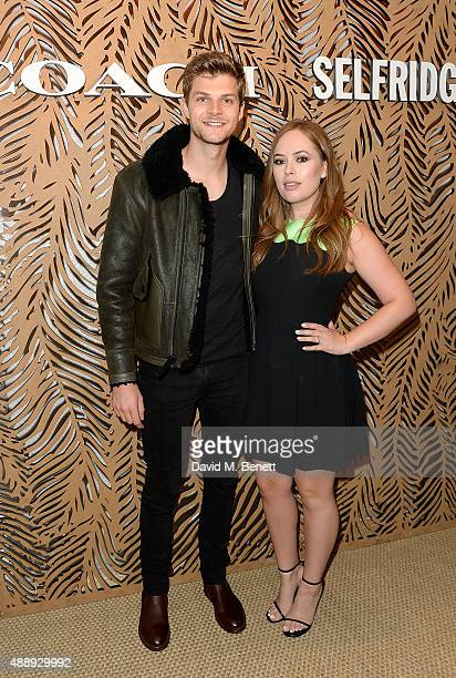 Jim Chapman and Tanya Burr attend the launch of Coach at Selfridges hosted by Stuart Vevers at Selfridges on September 18 2015 in London England
