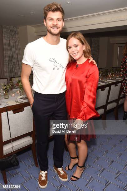 Jim Chapman and Tanya Burr attend the launch of Tanya Burr's new book 'Tanya's Christmas' at Claridge's Hotel on October 19 2017 in London England