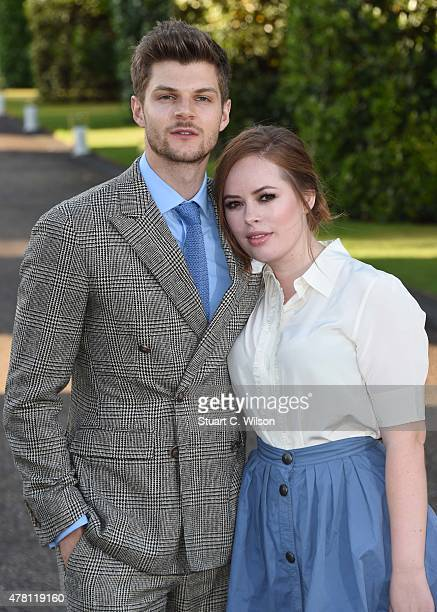 Jim Chapman and Tanya Burr attend the Vogue and Ralph Lauren Wimbledon party at The Orangery on June 22 2015 in London England