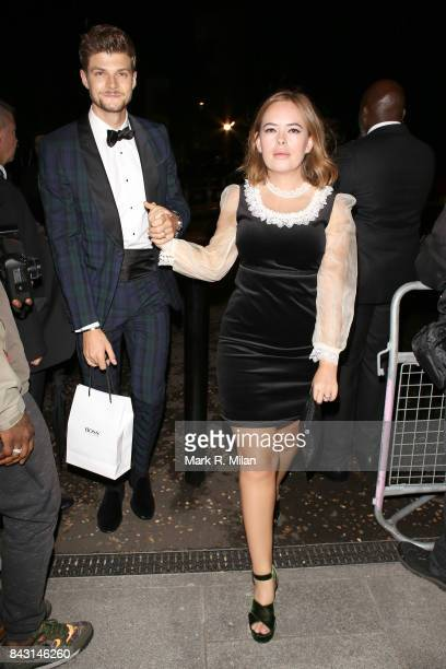 Jim Chapman and Tanya Burr attending the GQ awards on September 5 2017 in London England