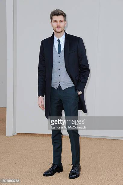 Jim Chapman attends the Burberry show during The London Collections Men AW16 at Kensington Gardens on January 11 2016 in London England