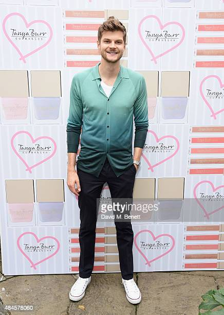 Jim Chapman attends the Tanya Burr Cosmetics New Beauty Collection Launch Party at Kensington Roof Gardens on August 20 2015 in London England