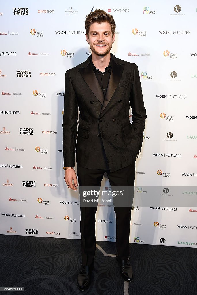 <a gi-track='captionPersonalityLinkClicked' href=/galleries/search?phrase=Jim+Chapman+-+Blogger&family=editorial&specificpeople=14698710 ng-click='$event.stopPropagation()'>Jim Chapman</a> attends the WGSN Futures Awards 2016 on May 26, 2016 in London, England.