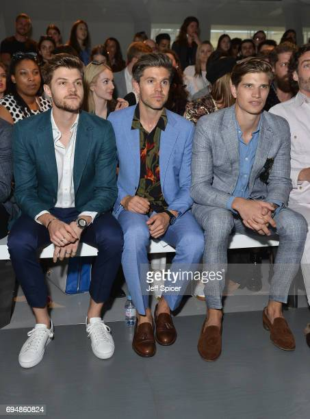 Jim Chapman Darren Kennedy and Toby HuntingtonWhiteley attend the Christopher Raeburn show during London Fashion Week Men's June 2017 collections on...