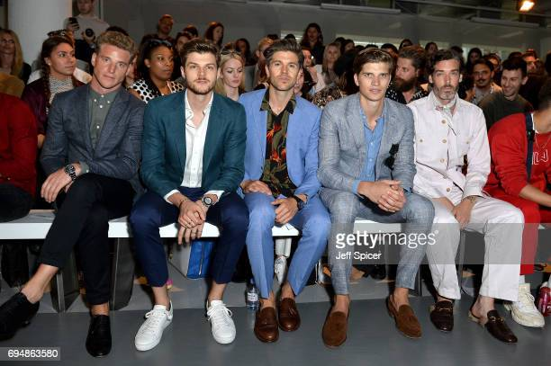 Jim Chapman Darren Kennedy Toby HuntingtonWhiteley and Richard Biedul attend the Christopher Raeburn show during London Fashion Week Men's June 2017...