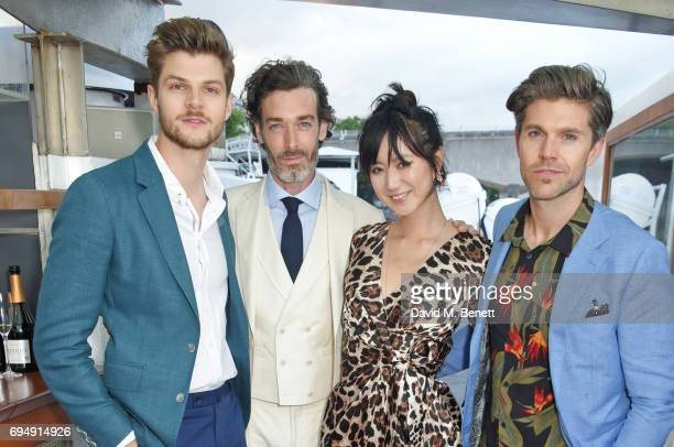 Jim Chapman Richard Biedul Betty Bachz and Darren Kennedy attend the Henley Royal Regatta and their official partner Hackett London launch event...