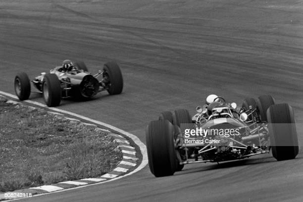 Jim Clark Graham Hill Lotus 33 Coventry Climax BRM P261 Grand Prix of Great Britain Silverstone 16 July 1966