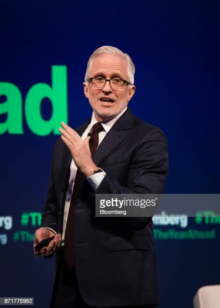 Jim Coulter cochief executive officer of TPG Holdings LP speaks during the Bloomberg Year Ahead Conference in New York US on Wednesday Nov 8 2017 The...