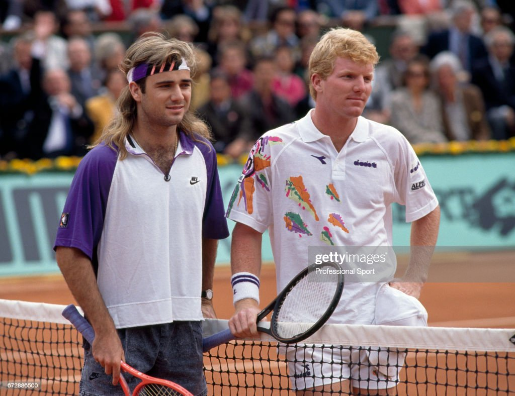 French Open Tennis Championships Jim Courier And Andre Agassi