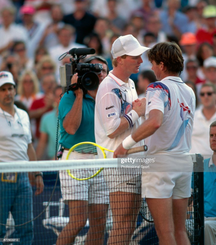 US Open Tennis Championships Jimmy Connors Defeats Jim Courier