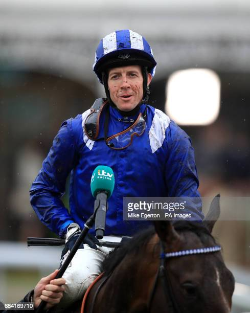 Jim Crowley after winning the Duke Of York Clipper Logistics Stakes on Tasleet during day one of the Dante Festival at York Racecourse PRESS...