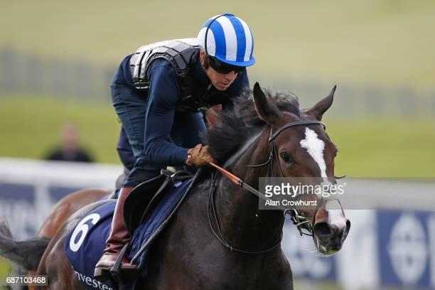 Jim Crowley riding Eminent at Epsom Racecourse on May 23 2017 in Epsom England